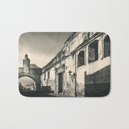 Antique buildings in Antigua, Guatemala Bath Mat