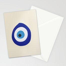 Blue Evil Eye Stationery Cards