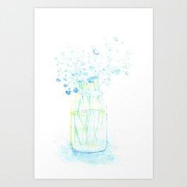 Flowers in a vase Art Print