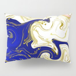 blue ,gold,rose,black,golden fractal, vibrations, circles modern pattern, Pillow Sham