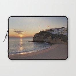 Praia do Carvoeiro at dusk, Portugal Laptop Sleeve