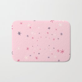 Pink Decorative Design with Stars to Infinity Bath Mat