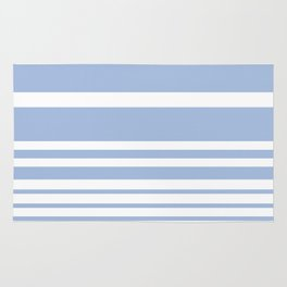Scandi Pastel Cornflower Stripes Rug