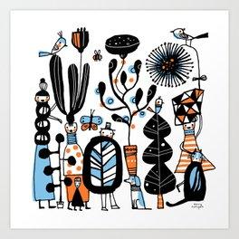 STRANGE GARDEN Art Print