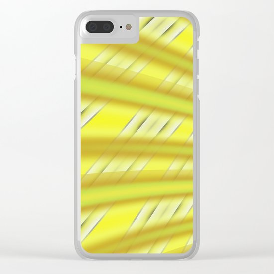 Fractal Play in Citruslicious Clear iPhone Case