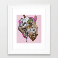 sia Framed Art Prints featuring ELECTRIC FANTA-SIA  by Vasare Nar