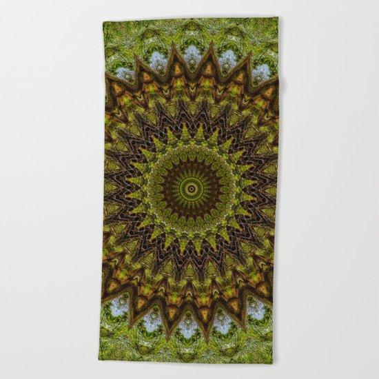 Kaleidoscope No. 6 - Green Beach Towel