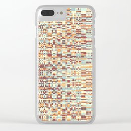 Abstract pattern 103 Clear iPhone Case
