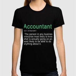 Funny CPA & Accountant defnition Gift for Men & Women T-shirt