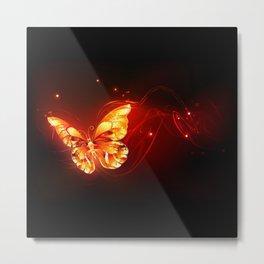 Flying Fire Butterfly Metal Print