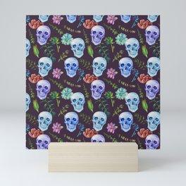 Skull Pattern   Bones Heavy Metal Cemetery Mini Art Print