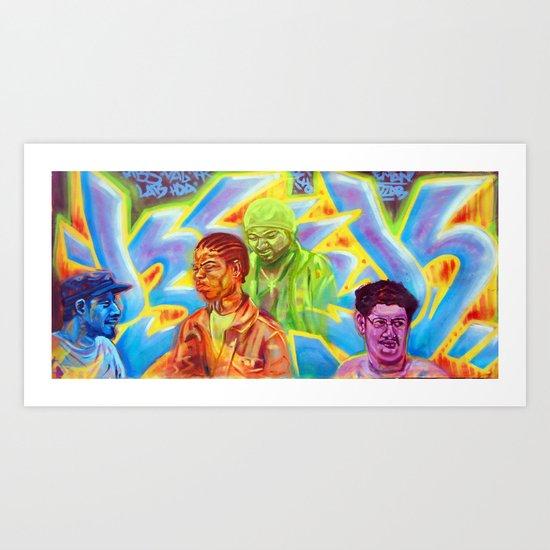 5 friends Art Print