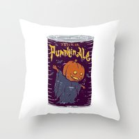 ale giorgini Throw Pillows featuring Pumpkin Ale by Moto