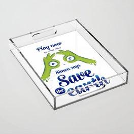 Simon says... Save the earth Acrylic Tray