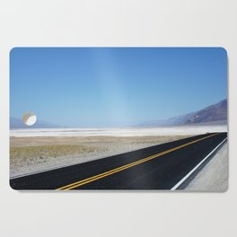 Lonely Road in Death Valley, CA Cutting Board