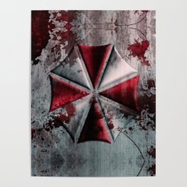 Umbrella with blood Poster
