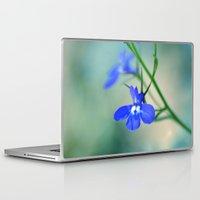 lv Laptop & iPad Skins featuring Blue Lobelia  by Teresa Chipperfield Studios