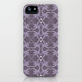 Purple and White Delicate Detail Textile iPhone Case