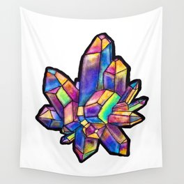 Titanium Crystal Wall Tapestry