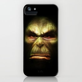Orc face iPhone Case