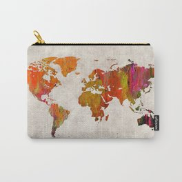 World Map 57 Carry-All Pouch