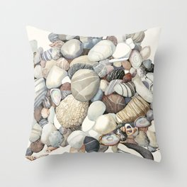 Sea shore of Crete Throw Pillow