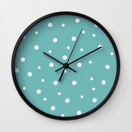 Seamless Polka Dots Pattern Wall Clock