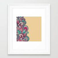 paisley Framed Art Prints featuring Paisley by Cultivate Bohemia