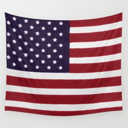 American flag with painterly treatment Wall Tapestry
