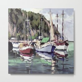 The Mooring Metal Print