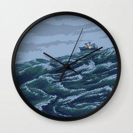 Rough Seas Wall Clock