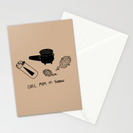 Chill mom it's yarrow Stationery Cards