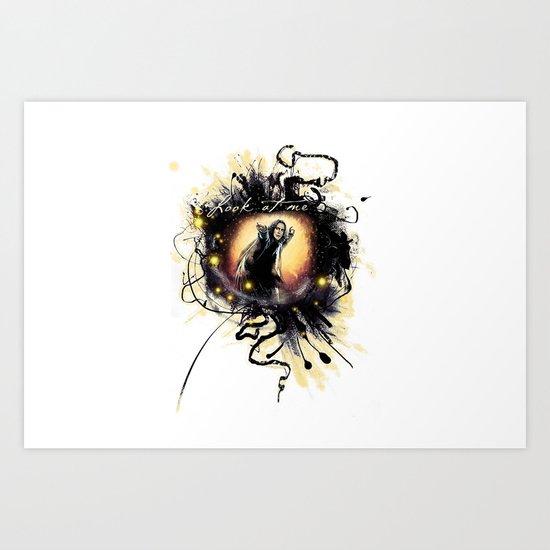 """Laptop-Skin """" Look at me"""" Art Print"""
