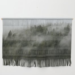 Pacific Northwest Foggy Forest Wall Hanging