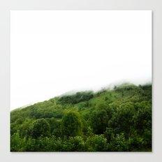 Les monts brumeux Canvas Print