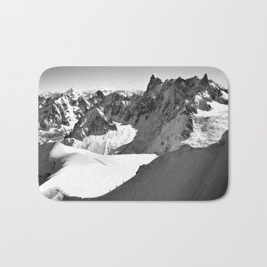 French Alps, Chamonix, France. Bath Mat