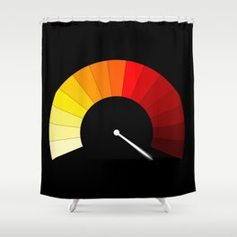 Blank In The Red Shower Curtain