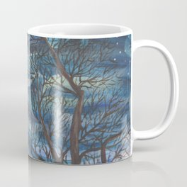 Starry Sky with Aurora Borealis Coffee Mug