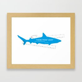 Main Theme from Jaws Framed Art Print