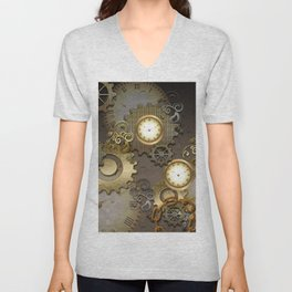 Abstract mechanical design Unisex V-Neck
