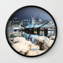 PDX Winter Wall Clock