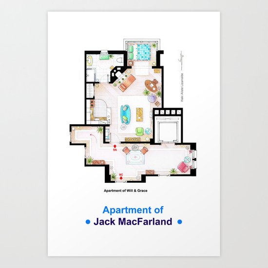 Jack MacFarland's apartment form 'Will and Grace' Art Print