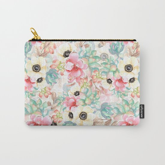 Yellow flowers. Watercolor Carry-All Pouch