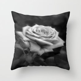 Pink Roses in Anzures 3 B&W Throw Pillow