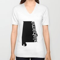 alabama V-neck T-shirts featuring Alabama by Isabel Moreno-Garcia