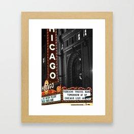 Historic Chicago Theatre Framed Art Print