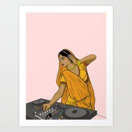 Dj Rani Art Print