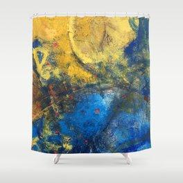 Yellowblue something Shower Curtain