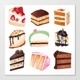 Yummy Cakes Canvas Print