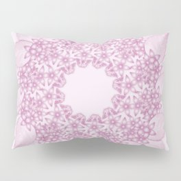 Pink butterflies and flowers mandala Pillow Sham